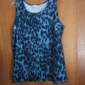Tops - Kim Gravel animal print tank top